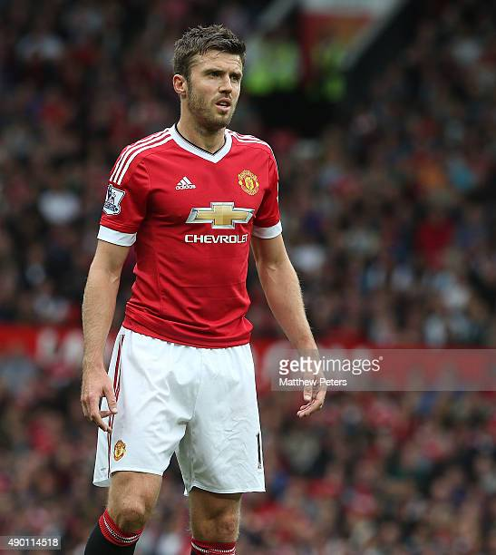 Michael Carrick of Manchester United in action during the Barclays Premier League match between Manchester United and Sunderland on September 26 2015...
