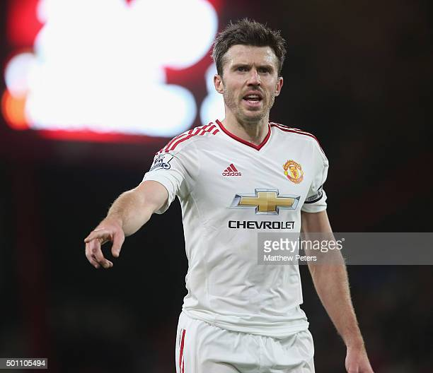 Michael Carrick of Manchester United in action during the Barclays Premier League match between AFC Bournemouth and Manchester United at Vitality...