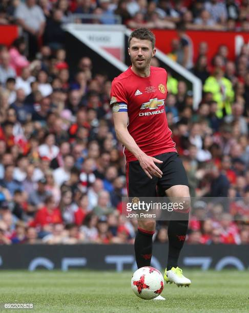 Michael Carrick of Manchester United in action during the Michael Carrick Testimonial match between Manchester United and Michael Carrick AllStars at...