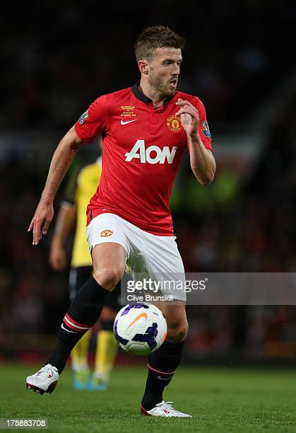 Michael Carrick of Manchester United in action during the Rio Ferdinand Testimonial Match between Manchester United and Sevilla at Old Trafford on...