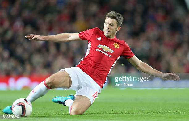 Michael Carrick of Manchester United in action during the UEFA Europa League match between Manchester United FC and Fenerbahce SK at Old Trafford on...
