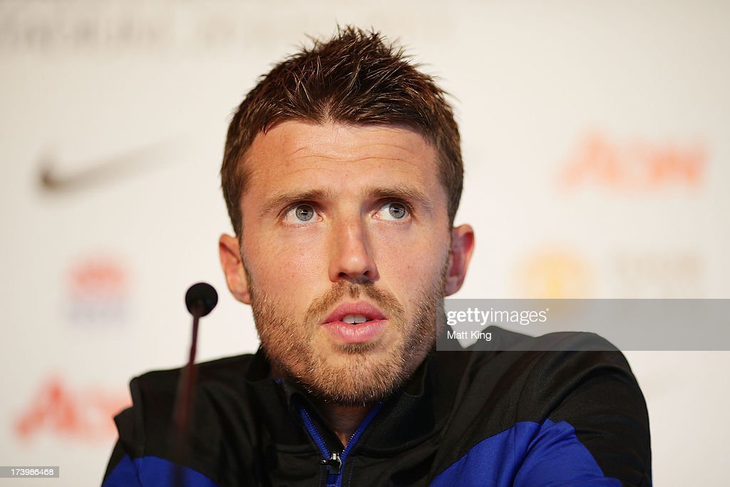 Michael Carrick speaks to the media during a Manchester United press conference at Museum of Contemporary Art on July 19, 2013 in Sydney, Australia.
