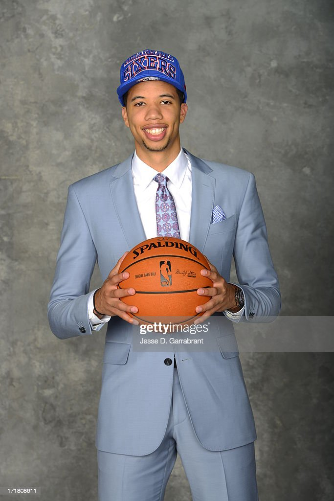 Michael Carter poses for a portrait after being selected during the 2013 NBA Draft at the Barclays Center on June 27, 2013 in Brooklyn, New York.