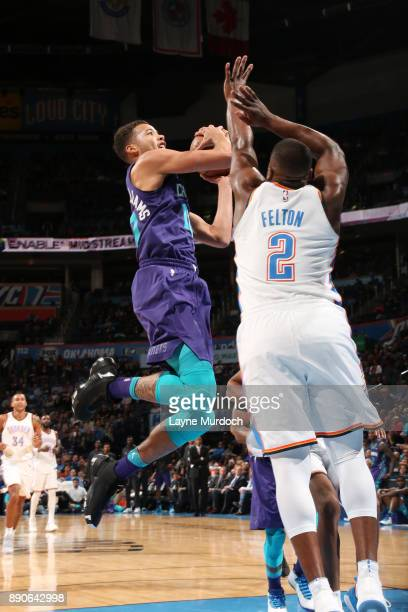 Michael CarterWilliams of the Charlotte Hornets shoots the ball during the game against the Oklahoma City Thunder on December 11 2017 at Chesapeake...