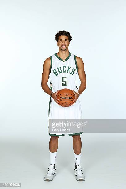 Michael CarterWilliams of the Milwaukee Bucks poses for a portrait during Media Day on September 28 2015 at the Orthopaedic Hospital of Wisconsin...