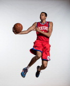Michael CarterWilliams of the Philadelphia 76ers poses for a portrait during the 2013 NBA rookie photo shoot at the MSG Training Center on August 6...
