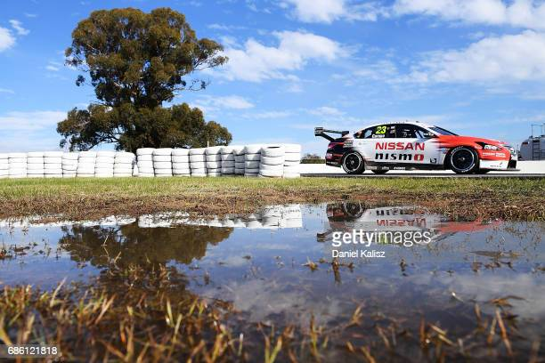 Michael Caruso drives the Nissan Motorsport Nissan Altima during qualifying for race 10 for the Winton SuperSprint which is part of the Supercars...