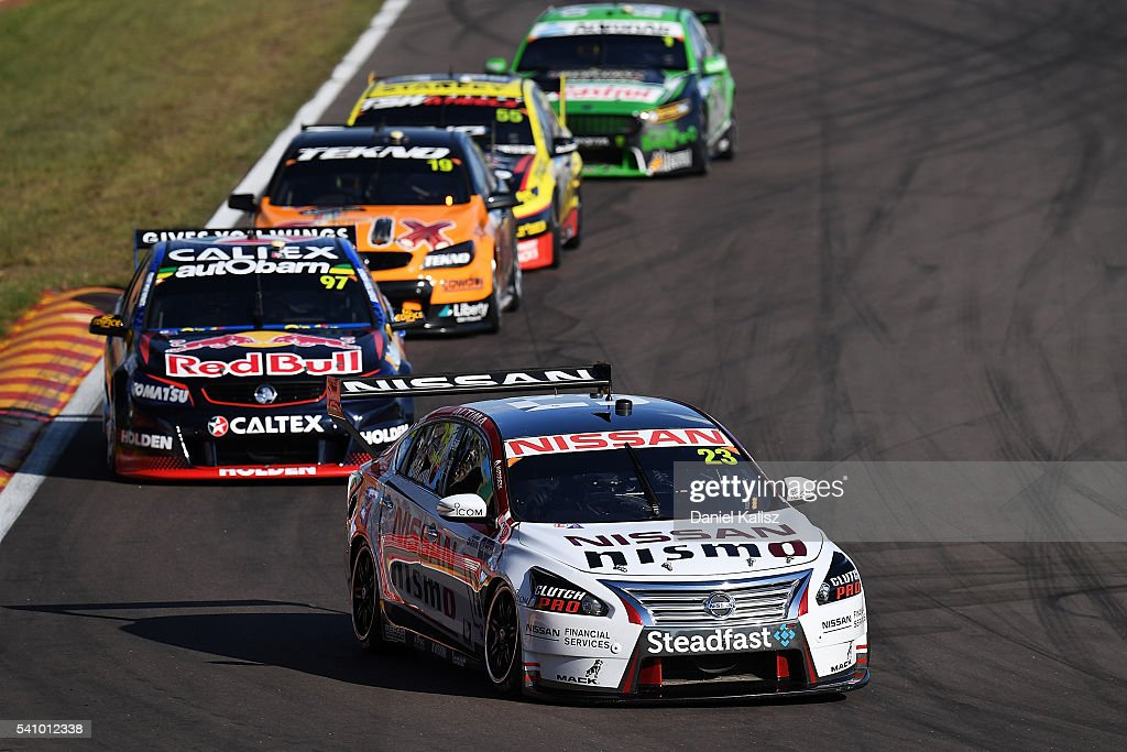 Michael Caruso drives the Nissan Motorsport Nissan Altima during the V8 Supercars Darwin Triple Crown at Hidden Valley Raceway on June 18 2016 in...