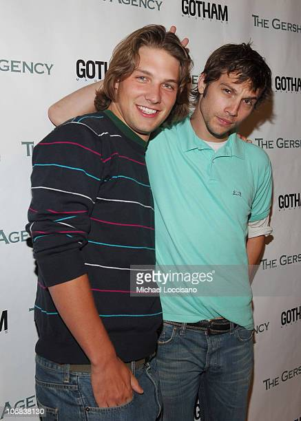 Michael Cassidy and Logan MarshallGreen during The Gersh Agency Celebrates New York Upfronts with Gotham Magazine at BED in New York City New York...