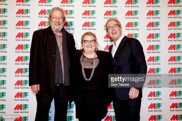 Michael Caton Magda Szubanski and Ben Elton arrive ahead of the world premiere of Three Summers as part of the 66th Melbourne International Film...