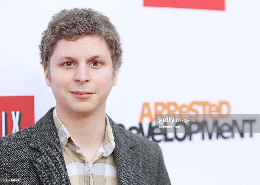 <a gi-track='captionPersonalityLinkClicked' href=/galleries/search?phrase=Michael+Cera&family=editorial&specificpeople=226654 ng-click='$event.stopPropagation()'>Michael Cera</a> arrives at Netflix's Los Angeles premiere of 'Arrested Development' season 4 held at TCL Chinese Theatre on April 29, 2013 in Hollywood, California.