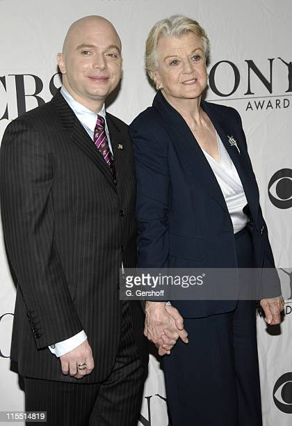 Michael Cerveris and Angela Lansbury during 61st Annual Tony Awards Press Reception at Marriott Marquis in New York City New York United States