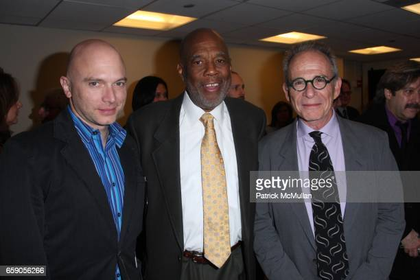 Michael Cerveris Howard Bingham and Ron Rifkin attend HOWARD BINGHAM to be Honored with the OUR TIME AWARD at Jack H Skirball Center for the...