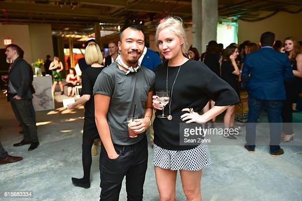 Michael Chan and Hannah Baker attend West Elm Headquarters Party at 55 Water Street on October 18 2016 in New York City