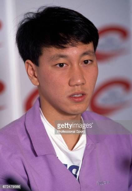 Michael Chang of the USA at the COMPAQ Grand Slam Cup at the Olympiahalle in Munich circa December 1991 Chang was defeated in the final by David...