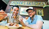 Michael Chernow and Daniel Holzman coowners at their new location of The Meatball Shop on Bedford Ave in Williamsburg Brooklyn