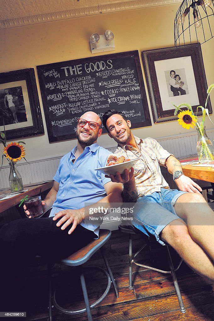 Michael Chernow and Daniel Holzman coowners of their new location of the Meatball Shop on Bedford Ave in Williamsburg Brooklyn