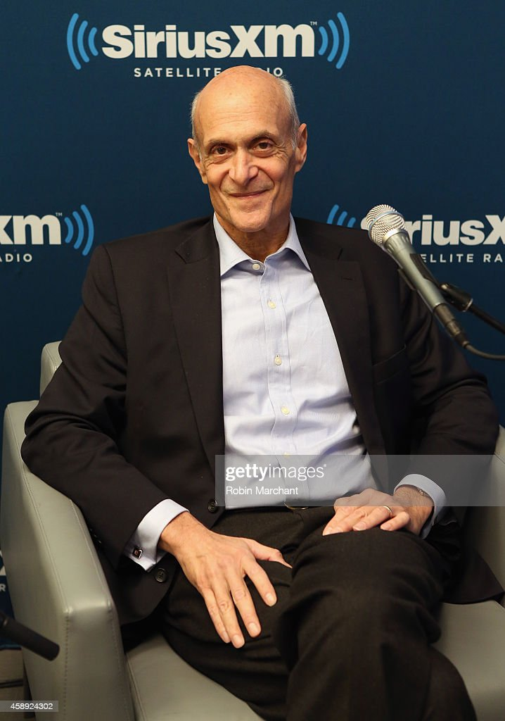<a gi-track='captionPersonalityLinkClicked' href=/galleries/search?phrase=Michael+Chertoff&family=editorial&specificpeople=204729 ng-click='$event.stopPropagation()'>Michael Chertoff</a>, former United States Secretary of Homeland Security attends SiriusXM's Business Radio Airs Cybersecurity Special, 'Hacked' at SiriusXM Studios on November 13, 2014 in New York City.