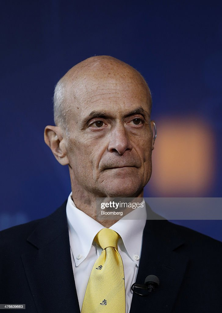 <a gi-track='captionPersonalityLinkClicked' href=/galleries/search?phrase=Michael+Chertoff&family=editorial&specificpeople=204729 ng-click='$event.stopPropagation()'>Michael Chertoff</a>, former U.S. Secretary of Homeland Security, listens during an interview during the 2014 IHS CERAWeek conference in Houston, Texas, U.S., on Wednesday, March 5, 2014. IHS CERAWeek is a gathering of senior energy decision-makers from around the world to focus on the accelerating pace of change in energy markets, technologies, geopolitics, and the emerging playing field. Photographer: Aaron M. Sprecher/Bloomberg via Getty Images