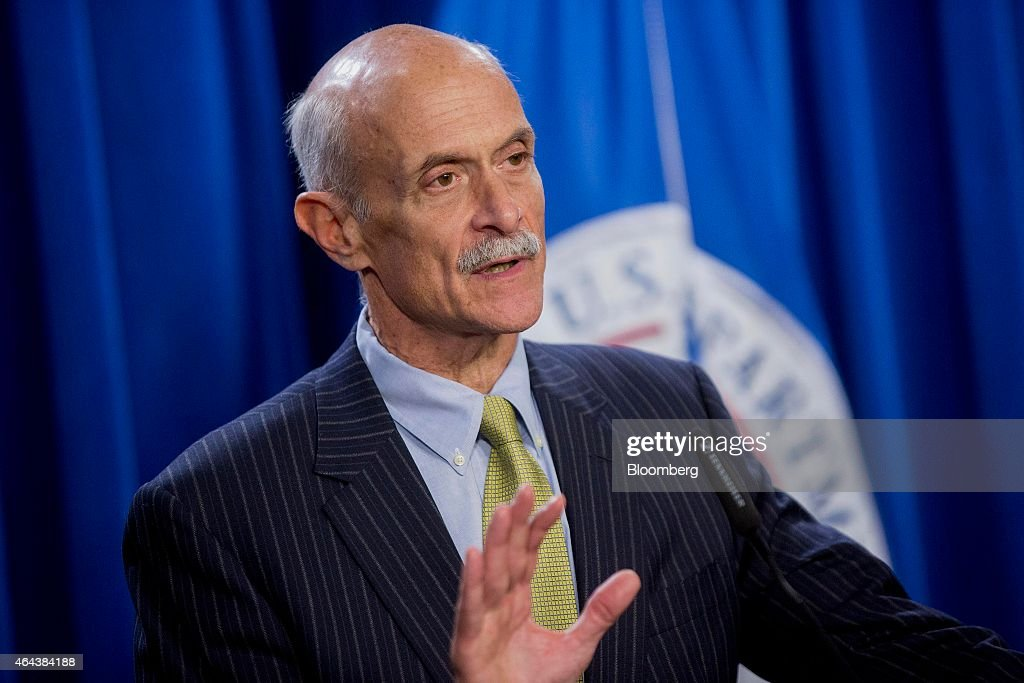 <a gi-track='captionPersonalityLinkClicked' href=/galleries/search?phrase=Michael+Chertoff&family=editorial&specificpeople=204729 ng-click='$event.stopPropagation()'>Michael Chertoff</a>, former U.S. secretary of Homeland Security (DHS), speaks during a news conference with Jeh Johnson, U.S. secretary of Homeland Security (DHS), and former secretaries of Homeland Security Tom Ridge, not pictured, at the U.S. Immigration and Customs Enforcement (ICE) in Washington, D.C., U.S., on Wednesday, Feb. 25, 2015. Financing for the DHS is set to lapse after Friday and the agency would face a partial shutdown unless Congress provides new money. Photographer: Andrew Harrer/Bloomberg via Getty Images