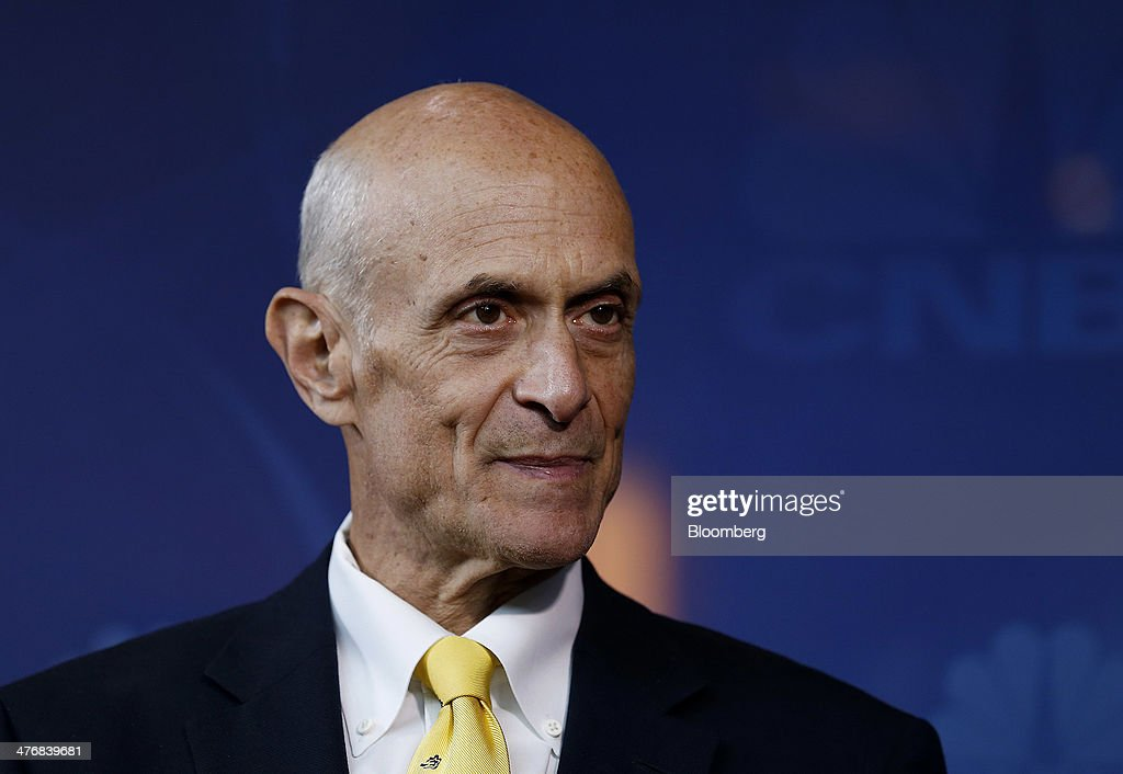 <a gi-track='captionPersonalityLinkClicked' href=/galleries/search?phrase=Michael+Chertoff&family=editorial&specificpeople=204729 ng-click='$event.stopPropagation()'>Michael Chertoff</a>, former U.S. Secretary of Homeland Security, speaks during an interview during the 2014 IHS CERAWeek conference in Houston, Texas, U.S., on Wednesday, March 5, 2014. IHS CERAWeek is a gathering of senior energy decision-makers from around the world to focus on the accelerating pace of change in energy markets, technologies, geopolitics, and the emerging playing field. Photographer: Aaron M. Sprecher/Bloomberg via Getty Images