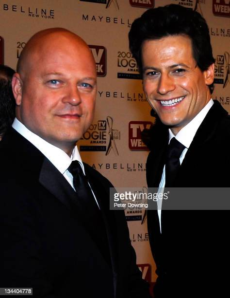 Michael Chiklis and Ioan Gruffudd during 2007 TV Week Logie Awards Arrivals at Crown Casino in Sydney NSW Australia