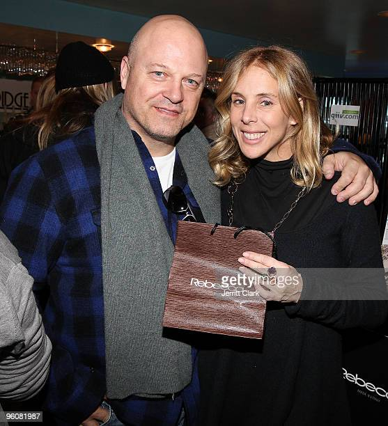 Michael Chiklis and wife Michelle attend The Sky Suite at Sky Lodge on January 23 2010 in Park City Utah