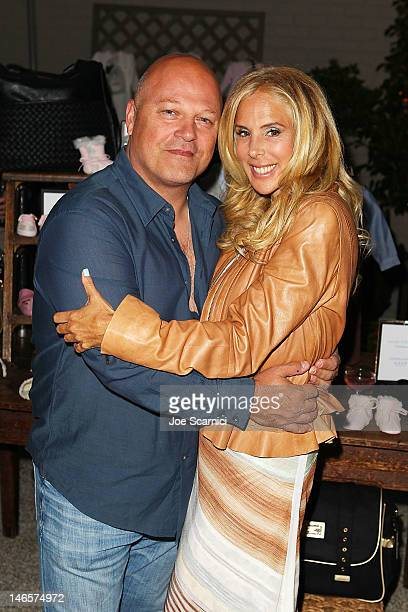 Michael Chiklis and wife Michelle Moran attend Gilt Baby and Kids celebrates Wendy Bellissimo collection launch at Palihouse Holloway on June 19 2012...