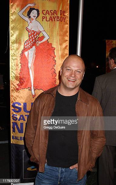 Michael Chiklis during Hugh Hefner and Playboy Host Playboy's Fourth Annual Super Saturday Night Arrivals at The House of Hospitality in San Diego...