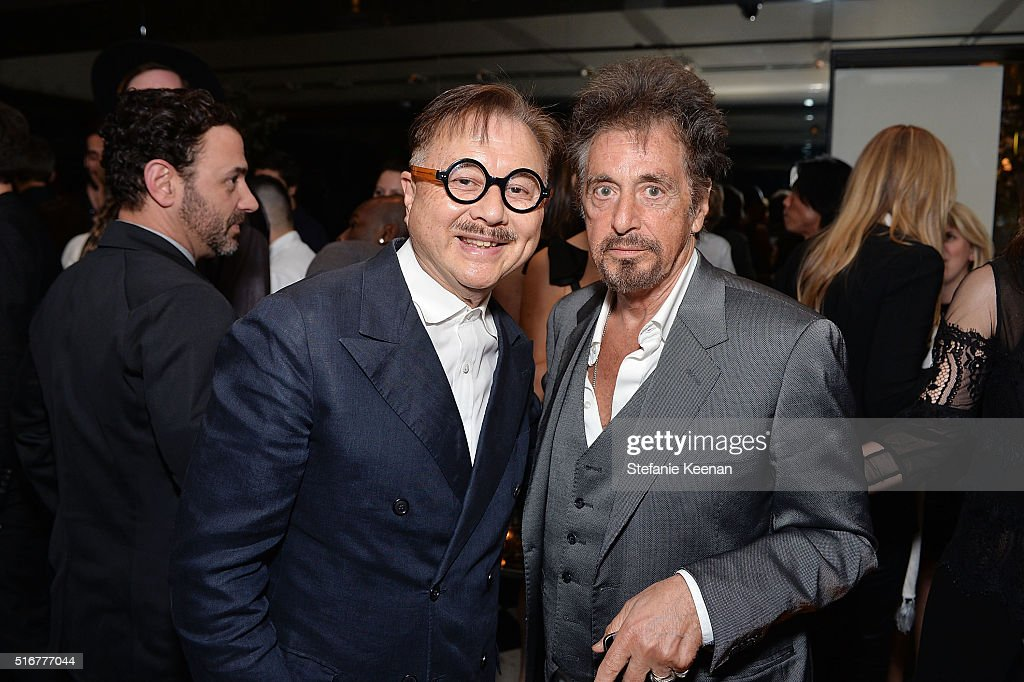 Michael Chow and Al Pacino attend The Daily Front Row Fashion Los Angeles Awards Private Dinner Hosted By Eva Chow And Carine Roitfeld at Mr Chow on March 20, 2016 in Beverly Hills, California.