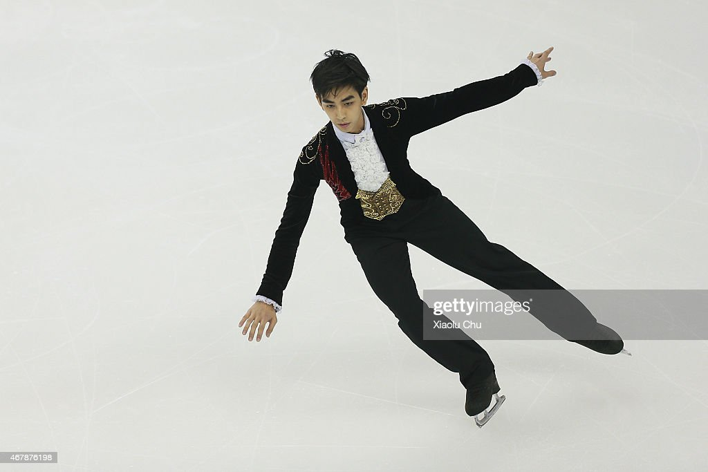 Michael Christian Martinez of Philippines performs during the Ice DanceMan Free Skating Program on day four of the 2015 ISU World Figure Skating...