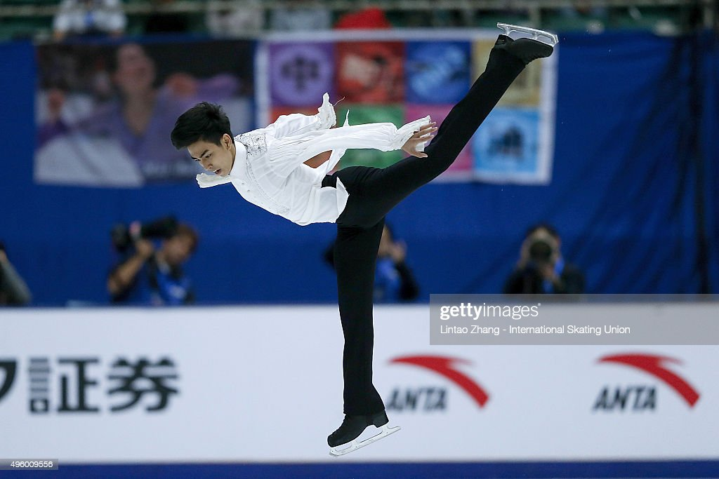 Michael Christian Martinez of Philippines performs during the Men Short Program on day one of Audi Cup of China ISU Grand Prix of Figure Skating 2015...