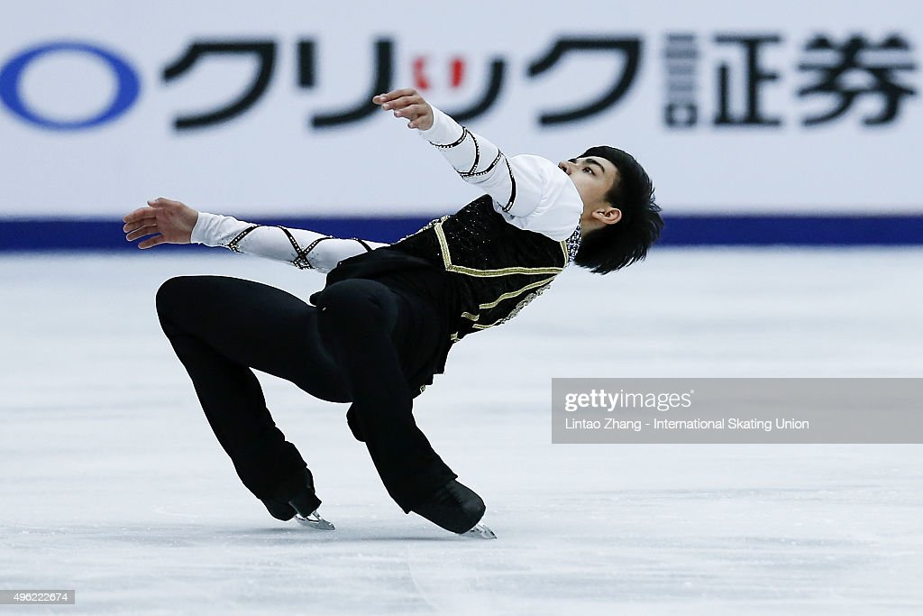 Michael Christian Martinez of Philippines performs during the Men Short Program on day two of Audi Cup of China ISU Grand Prix of Figure Skating 2015...