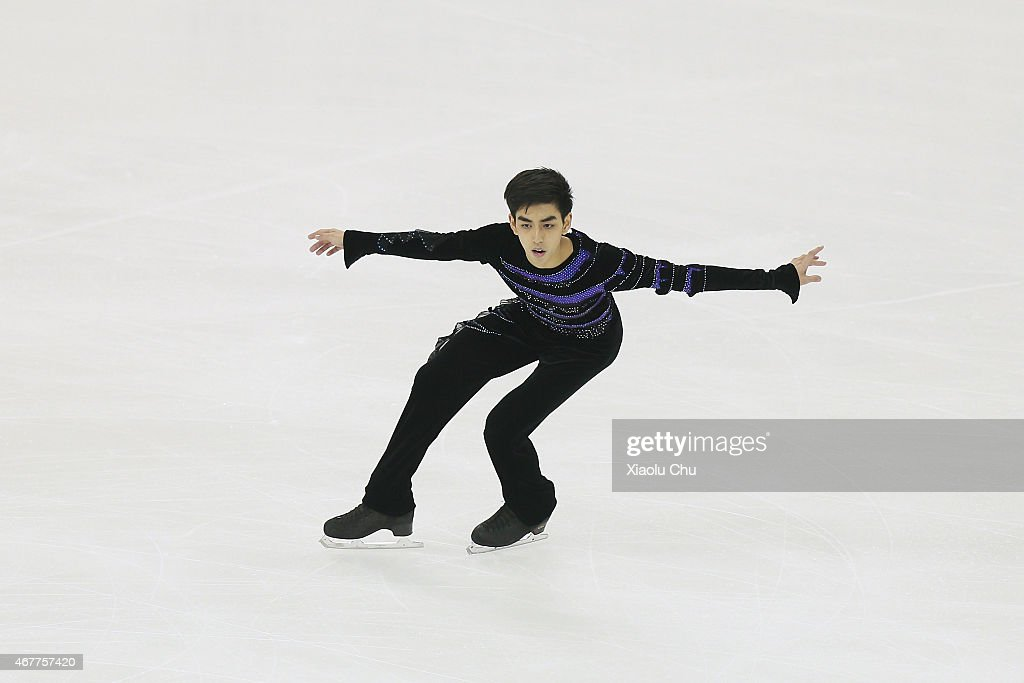 Michael Christian Martinez of Philippines performs during the Men's Short Program on day three of the 2015 ISU World Figure Skating Championships at...