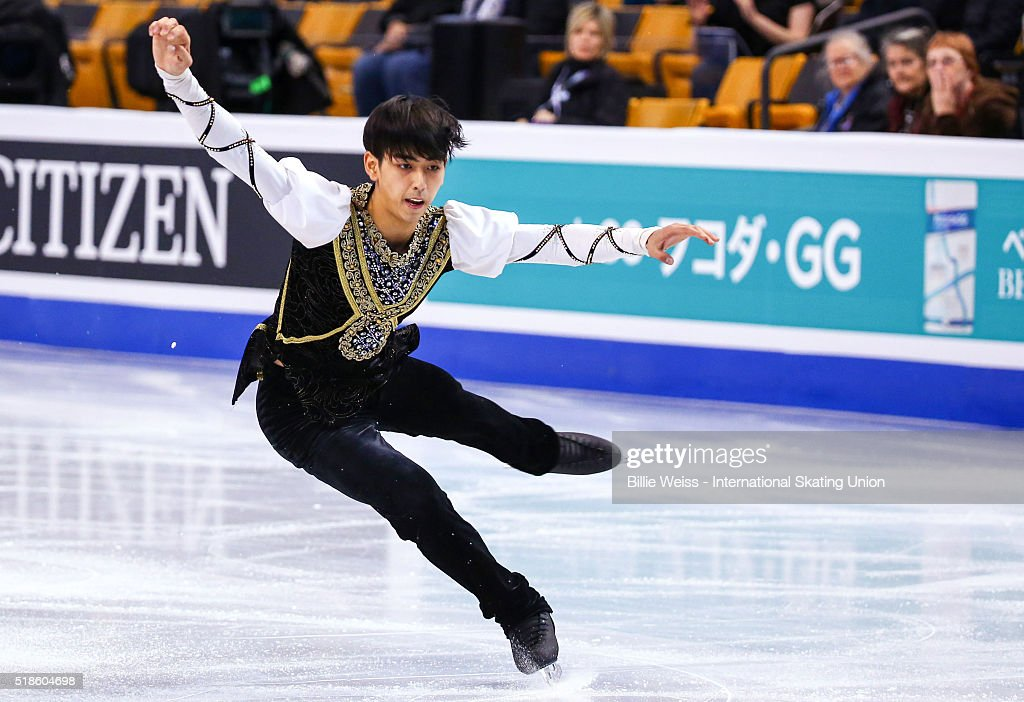 Michael Christian Martinez of the Philippines competes during Day 5 of the ISU World Figure Skating Championships 2016 at TD Garden on April 1 2016...
