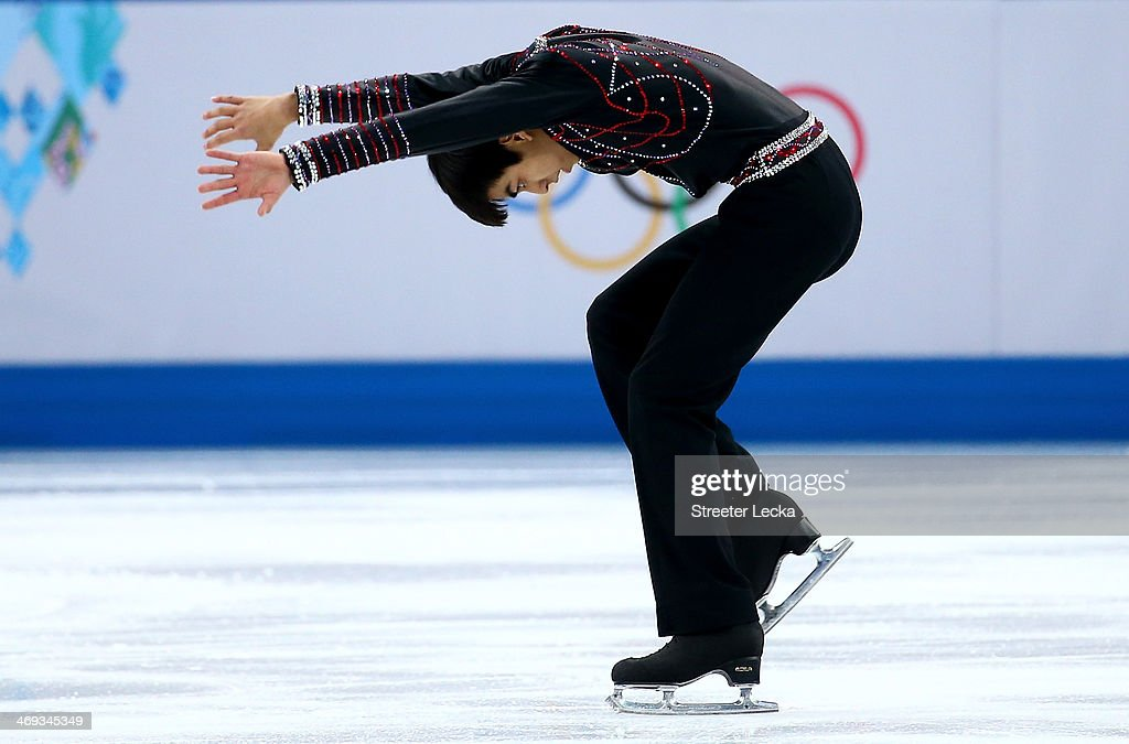 Michael Christian Martinez of the Philippines competes during the Figure Skating Men's Free Skating on day seven of the Sochi 2014 Winter Olympics at...