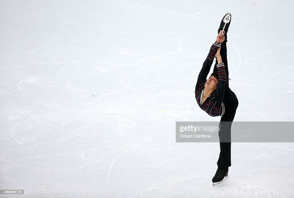 Michael Christian Martinez of the Philippines peforms during the Figure Skating Men's Free Skating on day seven of the Sochi 2014 Winter Olympics at...