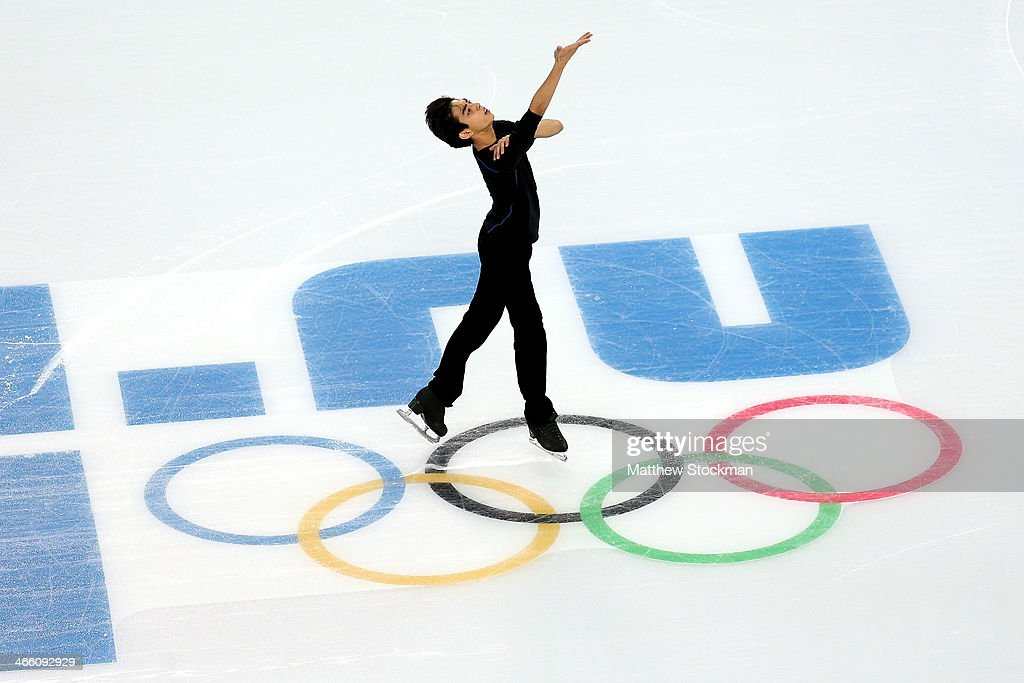 Michael Christian Martinez of the Philippines skates in a practice session at the Iceberg Skating Palace on January 31 2014 in Sochi Russia