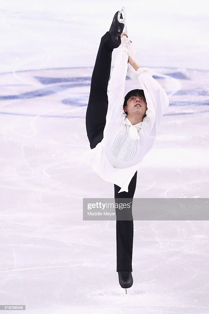 Michael Christian Martinez of the Philippines skates in the Men's Short program during day 3 of the ISU World Figure Skating Championships 2016 at TD...