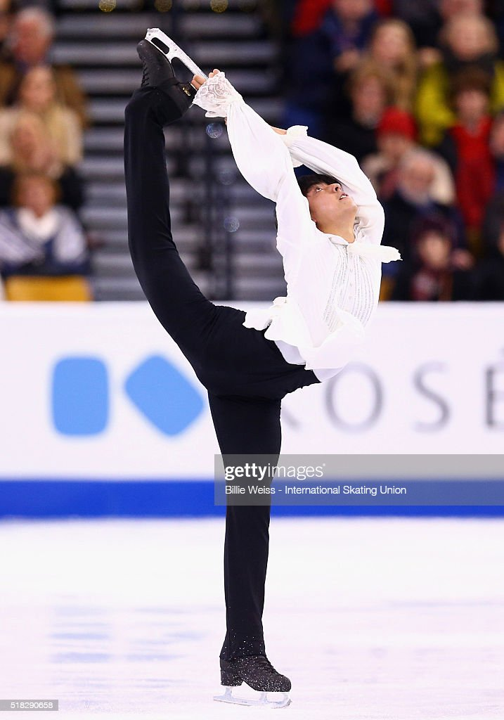 Michael Christian Martinez of the Phillipines competes during Day 3 of the ISU World Figure Skating Championships 2016 at TD Garden on March 30 2016...