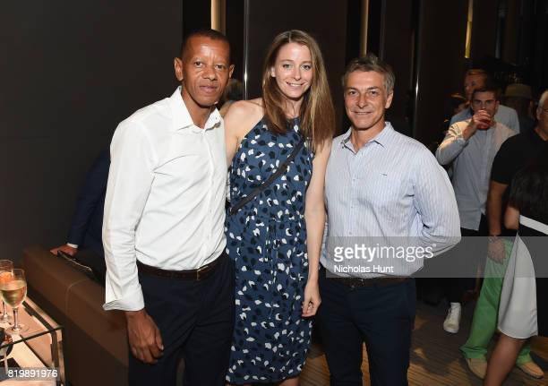 Michael Christopher Scott Andrea Burdett and Alejandro Carosso attend an event hosted by Hublot to welcome the Juventus Football Club to NYC on July...