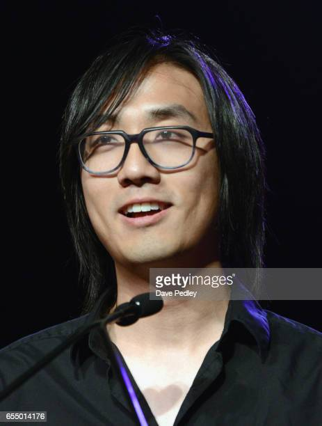 Michael Chu accepts the award for 'Excellence in Multiplayer' for 'Overwatch' onstage at the Gaming Awards Ceremony during 2017 SXSW Conference and...