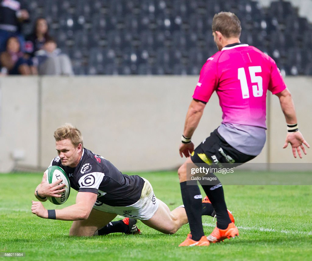 Michael Claassens of the Cell C Sharks during the Currie Cup match between Steval Pumas and Cell C Sharks XV at Mbombela Stadium on August 05 2016 in...