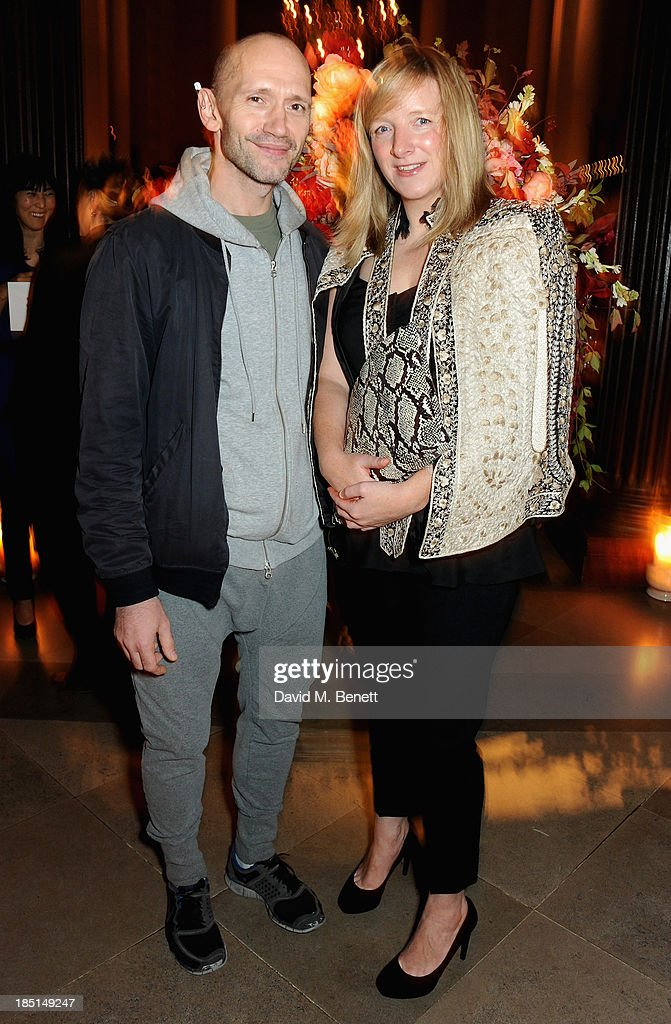 Michael Clark and Sarah Burton attend the Alexander McQueen and Frieze Dinner to celebrate the Frieze Art Fair 2013 on October 17, 2013 in London, England.