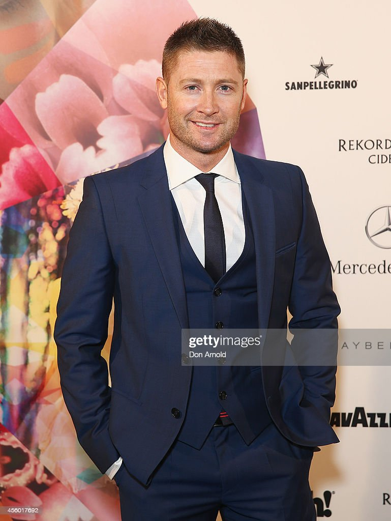 Michael Clarke arrives at the MB Presents Australian Style show during Mercedes-Benz Fashion Festival Sydney at Sydney Town Hall on September 24, 2014 in Sydney, Australia.