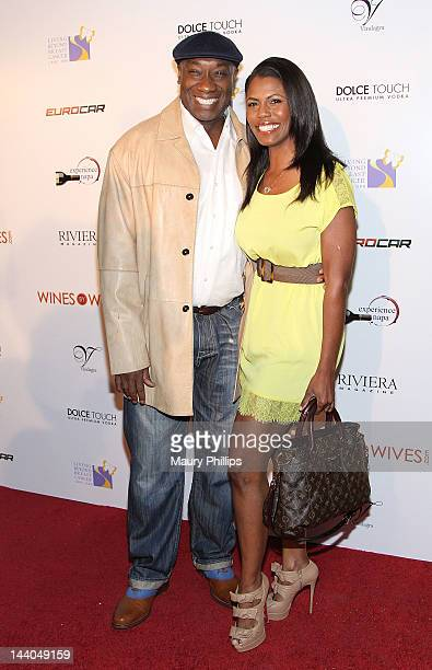 Michael Clarke Duncan and Omarosa ManigaultStallworth arrive at Wines By Wives Launch Party For Celebrity Wine Of The Month Club at Lexington Social...