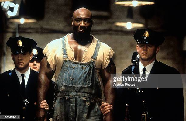 Michael Clarke Duncan is walked down a hall in a scene from the film 'The Green Mile' 1999