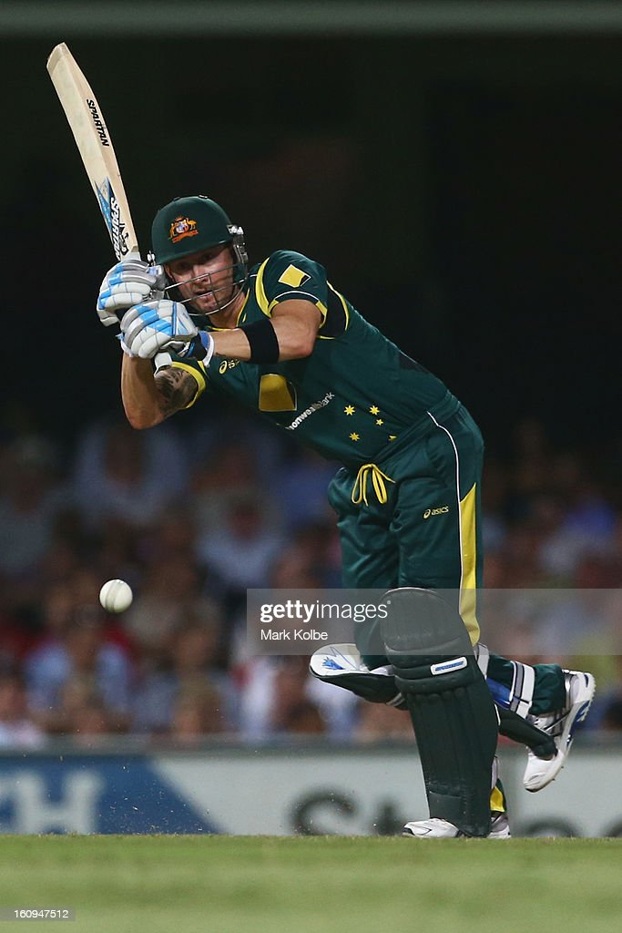 Michael Clarke of Australia bats during game four of the Commonwealth Bank One Day International Series between Australia and the West Indies at Sydney Cricket Ground on February 8, 2013 in Sydney, Australia.
