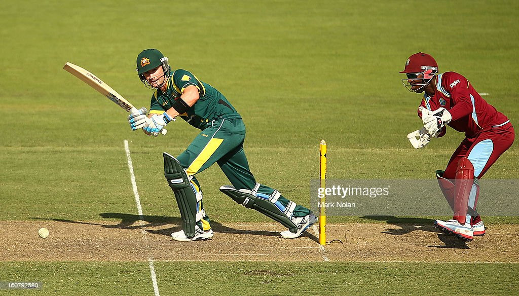Michael Clarke of Australia bats during the Commonwealth Bank One Day International Series between Australia and the West Indies at Manuka Oval on February 6, 2013 in Canberra, Australia.