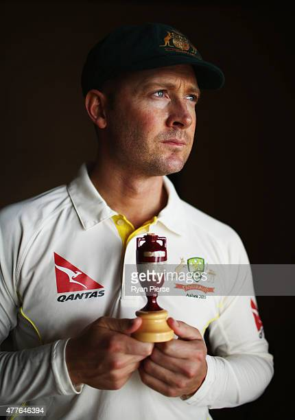 Michael Clarke of Australia poses during an Australian Cricket Team Ashes portrait session on June 1 2015 in Roseau Dominica